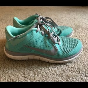Nike Free Run 4.0 Women's Size 7 Mint Blue